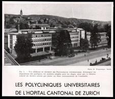 1947  --  ZURICH LES POLYCLINIQUES UNIVERSIATIRES DE L HOPITAL CANTONAL    3Q439 - Non Classés