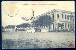 Cpa Du Viêt Nam Saigon 11è Régiment D' Infanterie Coloniale  Le  Drapeau   YN51 - Viêt-Nam