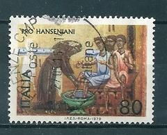 1979 PRO HANSENIANI 80 Lire USATO - 6. 1946-.. Repubblica