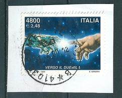 1999 VERSO IL DUEMILA 4800 Lire USATO - 6. 1946-.. Repubblica
