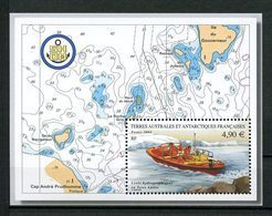 TAAF 2004 Bloc N° 10 ** ( N° 394 )  Neuf MNH Superbe C 19,60 € Bateaux Canot Levées Hydrographiques Boats Transports - Blocs-feuillets