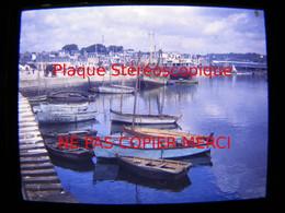 CONCARNEAU 29 Finistère En 1949 Le Port Bateau De Pêche Photo Amateur Stéréoscopique Stéréo Sur Plaque - Bateaux