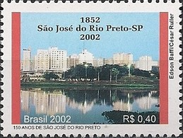 BRAZIL - 150th ANNIVERSARY OF THE CITY OF SÃO JOSÉ DO RIO PRETO, SÃO PAULO 2002 - MNH - Brazil