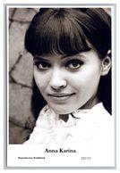 ANNA KARINA - Film Star Pin Up PHOTO POSTCARD - 222-13 Swiftsure Postcard - Künstler