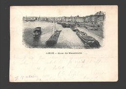 Liège - Quai De Maastricht - Dos Simple - 1900 - Liege