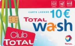 # Carte A Puce Portemonnaie Lavage Total - Club Total - 700 Stations - 10 Euros - Tres Bon Etat- - Frankrijk