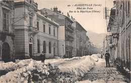 ALBERTVILLE -  Hotel Des Postes - Rue De La République ( L'hiver ) - Albertville
