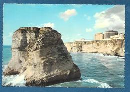 LIBANO LEBANON BEYROUTH SIDE VIEW OF THE PIGEON ROCKS UNUSED - Liban