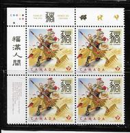 2019 CANADA CHINESE NEW YEAR Of PIG,  UL PLATE BLOCK MNH - Blocs-feuillets