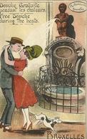 Douche Gratuite Pendant Les Chaleurs Couple Chien Manneken Pis - Humour