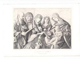 """JEAN BELLIN: """"LA VIERGE AU DONATEUR""""  Par Gazette Des Beaux-Arts - Engravings"""