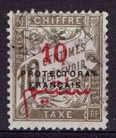 "French Morocco, Postage Due, 10c/10c., ""PROTECTORAT FRANCAIS"", 1915, VFU - Morocco (1891-1956)"
