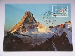 CARTE MAXIMUM CARD MONT CERVIN ZERMATT SUISSE - Cartes-Maximum (CM)
