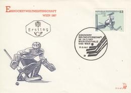 AUSTRIA FDC 1235 - Hockey (Ice)