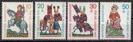 Germania 1970 Sc. B455/ B457 Minnesingers Menestrello Full Set MNH Rugge Eschenbach Metze Vogelweide - Arte