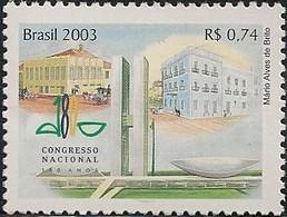 BRAZIL - 180 YEARS OF THE NATIONAL CONGRESS 2003 - MNH - Brazil