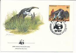 Mi 3856 FDC / WWF World Wildlife Fund / Giant Anteater Ant Bear Myrmecophaga Tridactyla - 13 March 1985 - Paraguay