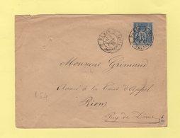 Paris - 1 Batignolles 1 - 1882 - Type Sage - Marcophilie (Lettres)