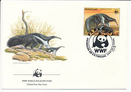 Mi 3857 FDC / WWF World Wildlife Fund / Giant Anteater Ant Bear Myrmecophaga Tridactyla - 13 March 1985 - Paraguay