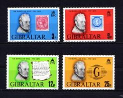GIBRALTAR    1979    Death  Centenary  Of  Sir  Rowland  Hill    Set  Of  4      MNH - Gibraltar