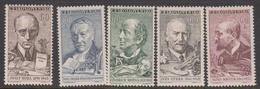 Czechoslovakia SG 1215-1219 1961 Cultural Anniversaries, Mint Never Hinged - Czechoslovakia