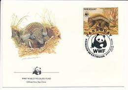 Mi 3854 FDC / WWF World Wildlife Fund / Giant Armadillo Priodontes Giganteus Tatou Ocarro Tatu-canastra - 13 March 1985 - Paraguay
