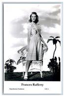 FRANCES RAFFERTY - Film Star Pin Up PHOTO POSTCARD - 148-6 Swiftsure Postcard - Künstler