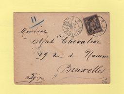 Paris - 2 R. Milton - 1891 - Type Sage - Destination Belgique - Marcophilie (Lettres)