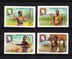 GHANA   1980    Death  Centenary  Of  Sir  Rowland  Hill   Imperforated   Set  Of  4        MNH - Ghana (1957-...)