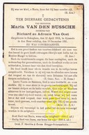 DP Maria Vanden Bussche / Van Oost 16j. ° Bekegem Ichtegem 1915 † Sijsele Damme 1931 - Images Religieuses