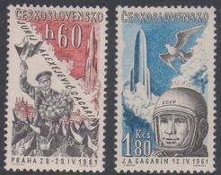 Czechoslovakia SG 1237-1238 1961 Yury Gagarin, Mint Never Hinged - Czechoslovakia
