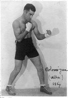 Carte Photo Ancienne < LE BOXEUR < COLOME JEAN (Poids WELTER) 68 Kgs - Boxing