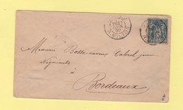 Paris 2 - R. Milton - 1890 - Type Sage - Marcophilie (Lettres)