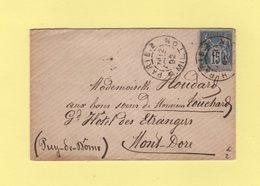 Paris 2 - R. Milton - 1892 - Type Sage - Marcophilie (Lettres)