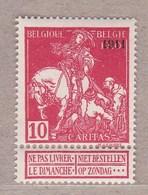 1911 Nr 99** Postfris Zonder Scharnier:met Lichte Gomschade.Caritas. Type Lemaire.OBP 42,5 Euro. - 1910-1911 Caritas