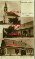 HUNGARY - GEDERLAK - ROM. KATH. TEMPLOM - KAKONJI ISTVANNE UZLETE - BLAUFELD JOZSEF UZLETE - 1930s  (BG2074) - Hongrie