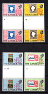 GAMBIA   1979    Death  Centenary  Of  Sir  Rowland  Hill     Set  Of  4  Gutter  Pairs        MNH - Gambie (1965-...)