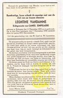 DP Leontine VanDamme ° Bekegem Ichtegem 1878 † 1945 X Camiel Simpelaere - Images Religieuses