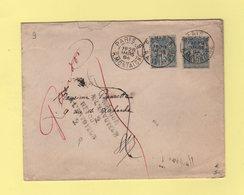 Paris 9 - R. Montaigne - 1894 - Retour à L'envoyeur 2 - Type Sage - Marcophilie (Lettres)