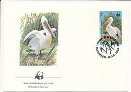 Mi 4106 FDC / WWF World Wildlife Fund / Birds Dalmatian Pelican Pelecanus Crispus - 15 December 1984 - 1948-.... Republics