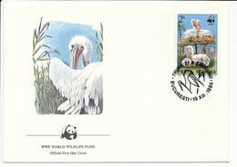 Mi 4107 FDC / WWF World Wildlife Fund / Birds Dalmatian Pelican Pelecanus Crispus - 15 December 1984 - 1948-.... Republics