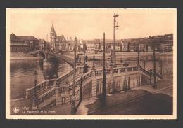 Liège - La Passerelle Et La Poste - Liege