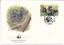 Mi 1292 FDC / WWF World Wildlife Fund / Mountain Gorilla Gorilla Gorilla Beringei Monkey Ape - 25 March 1985 - Rwanda