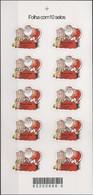 BRAZIL - FULL SHEET (10 STAMPS) CHRISTMAS: SANTA CLAUS 2004 - MNH - Christmas