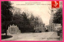 Saint Germain Les Corbeil - Eglise Et Grille Du Château - Attelage - Animée - Edit. MARDELET - Cliché AJAX - 1914 - Corbeil Essonnes