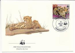 Mi 957 A FDC / WWF World Wildlife Fund / Cheetah Gepard Acinonyx Jubatus - 19 July 1984 - Haute-Volta (1958-1984)
