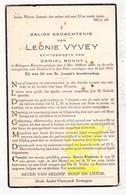 DP Leonie Vyvey ° Bekegem Ichtegem 1886 † 1935 X Camiel Bonny - Devotion Images