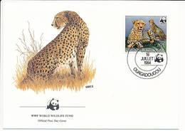 Mi 958 A FDC / WWF World Wildlife Fund / Cheetah Gepard Acinonyx Jubatus - 19 July 1984 - Haute-Volta (1958-1984)