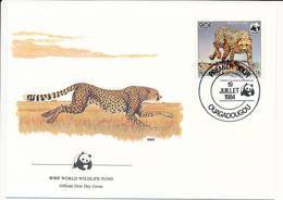 Mi 959 A FDC / WWF World Wildlife Fund / Cheetah Gepard Acinonyx Jubatus - 19 July 1984 - Haute-Volta (1958-1984)