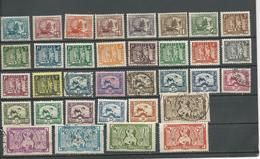 INDOCHINE Scott 143-170 Yvert 150-170, 214-217 (34) * Et O 46,50 $ 1931-41 - Ungebraucht